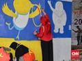 FOTO: Mural Asian Games di Tiang-tiang Tol Rawamangun