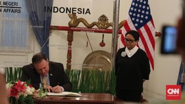 Gedung Pancasila, Lawatan Pertama Menlu Pompeo ke Indonesia