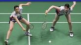 Pertandingan di semifinal itu adalah yang pertama bagi Greysia/Apriyani dan Mayu Matsumoto/Wakana Nagahara. Kini pasangan Jepang tersebut unggul 1-0 dalam head to head dengan Greysia/Apriyani. (/ AFP PHOTO / Johannes EISELE)