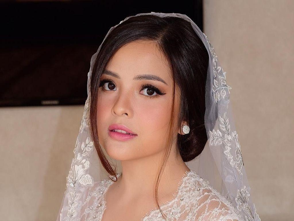 Cantik Nian! Tasya Kamila Anggun dengan Kebaya Putih saat Akad Nikah
