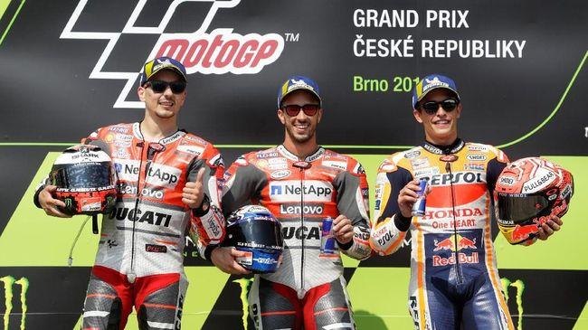 Marquez Bersyukur Ducati Terlambat Panas pada MotoGP 2018