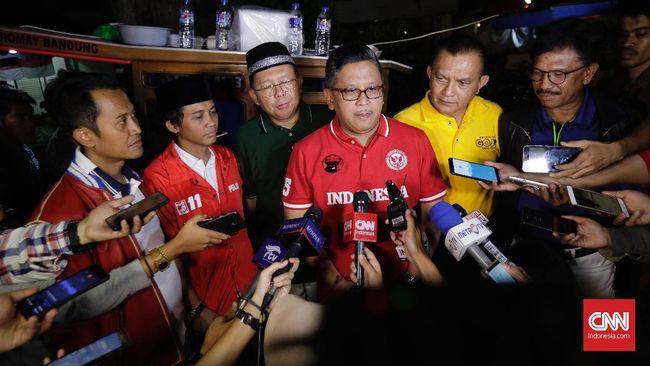 Sekjen Parpol Bahas Tim Pemenangan Jokowi dan Peran Mahfud MD
