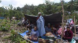 FOTO: Bertahan Hidup di Pengungsian Lombok