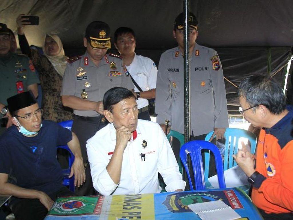 Wiranto Bersama TGB Pantau Kesiapan Pascagempa Lombok