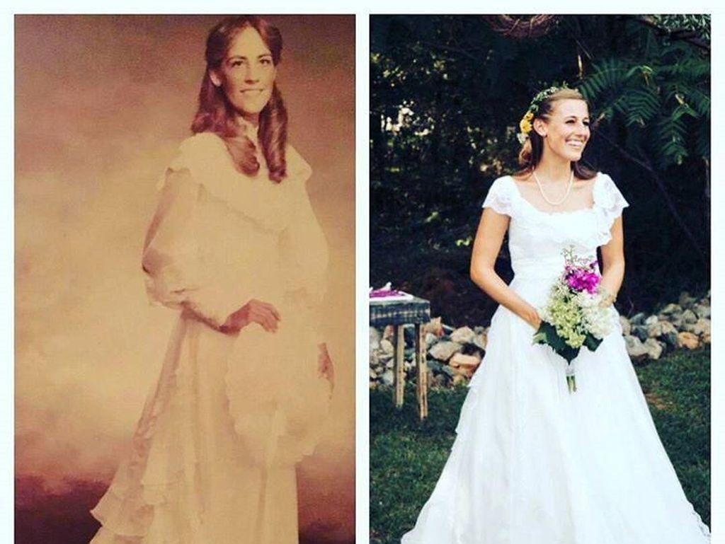 8 Foto Ini Bukti Gaun Pengantin Jadul Ibu Bisa Didaur Ulang Jadi Keren