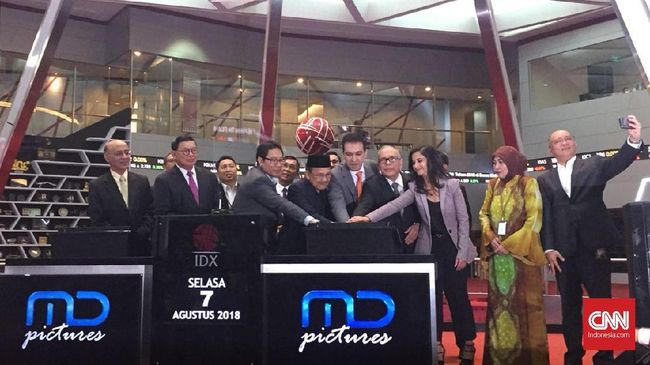 Perdagangan Saham Perdana MD Pictures Melambung 49,5 Persen