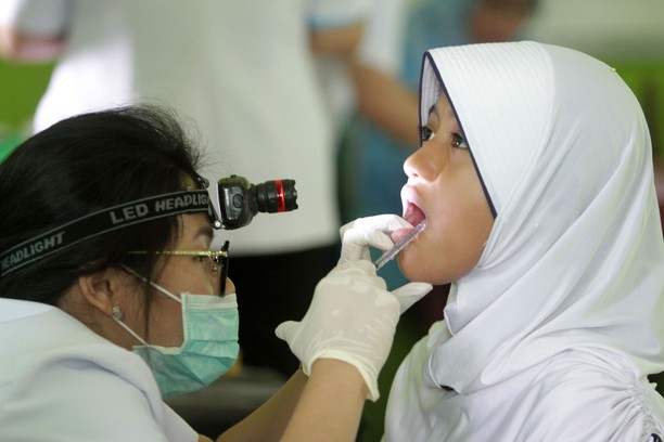 Siswa Mts Negeri 1 Batam Cek Kesehatan Gigi