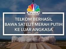 Telkom Berhasil Bawa Satelit Merah Putih ke Luar Angkasa