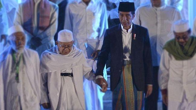 Buka Munas Ulama NU, Jokowi-Ma'ruf Kompak Sarungan