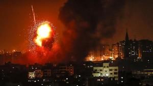 FOTO: Israel Gempur Gaza dengan 180 Roket