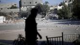 Serangan Israel tersebut adalah yang ketiga kalinya sejak Juli 2018. (REUTERS/Mohammed Salem)