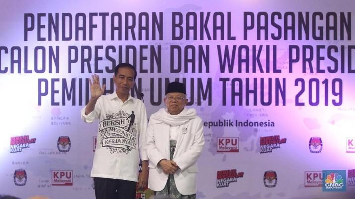 Jokowi-Ma'ruf Sebut Ekonomi RI Melesat 7,2% pada 2023