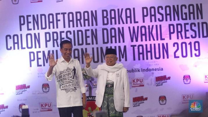 Calon Presiden (Capres) Joko Widodo dan Calon Wakil Presiden (Cawapres) Ma'ruf Amin telah merumuskan visi-misi untuk 2019.
