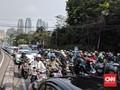 Prabowo-Sandi Daftar Pilpres, Lalu Lintas Sekitar KPU Macet