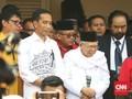 Relawan Sambut Meriah Kedatangan Jokowi di KPU