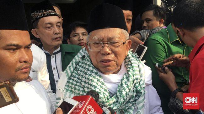 Ma'ruf Sindir Kubu Prabowo Tidak Hargai Ulama Abaikan Ijtimak