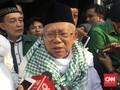 Ma'ruf Amin Tegaskan Tak Bertemu Rizieq di Mekkah