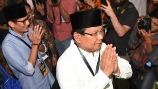 Ambil Nomor Urut, Prabowo-Sandi Jalan Kaki ke KPU