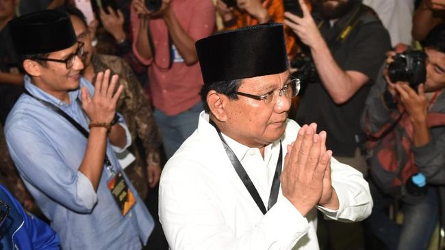 Prabowo-Sandi Bertolak ke KPU untuk Ambil Nomor Urut