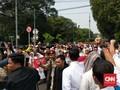 Konvoi Pendukung Prabowo ke KPU Picu Kemacetan