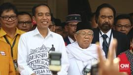 Jokowi-Ma'ruf Tiba di Djakarta Theater Simulasi Debat Capres