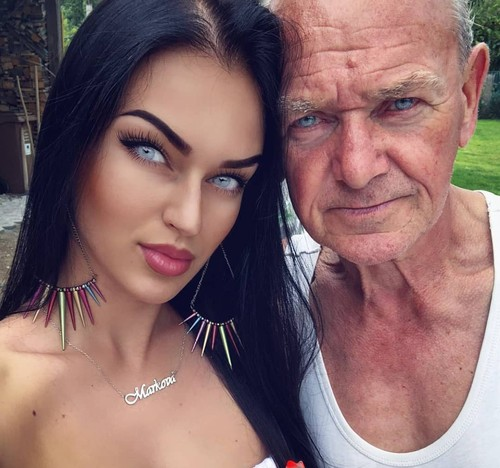 Foto: Mata Indah Kakek Ganteng & Cucu Cantik yang Bikin Takjub