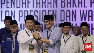 Kompak Berpeci Hitam, Prabowo dan Sandiaga Sowan ke PBNU