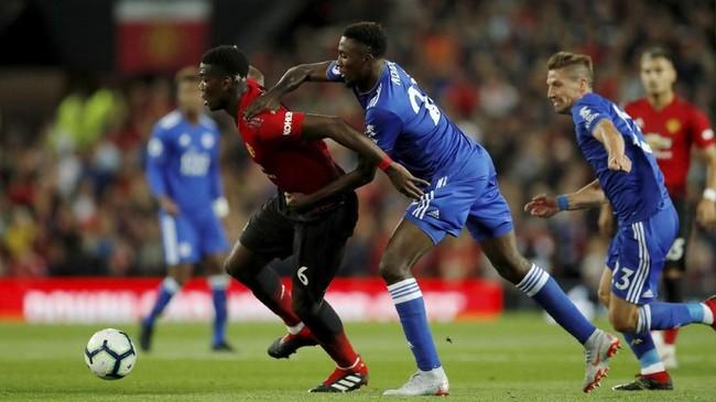Duel Manchester United lawan Leicester City jadi laga pembuka kompetisi Liga Primer Inggris musim ini. (Reuters/Andrew Boyers)
