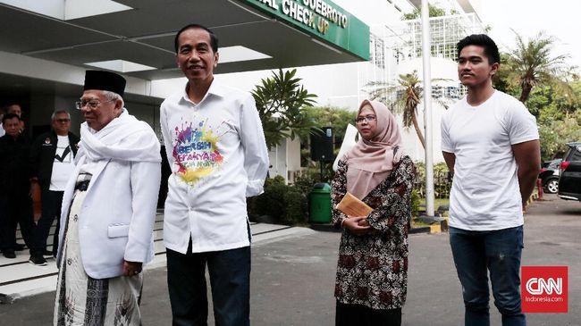 Ikuti Tes Kesehatan, Jokowi dan Ma'ruf Amin Didampingi Anak