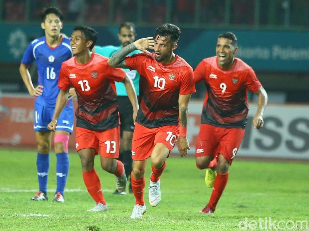 Saat melawan Taiwan, Stefano Lilipaly mencetak kedua golnya cuma dalam rentang waktu di kisaran sembilan menit saja, yakni di menit ke-67 dan menit ke-76. (Foto: Grandyos Zafna/detikSport)