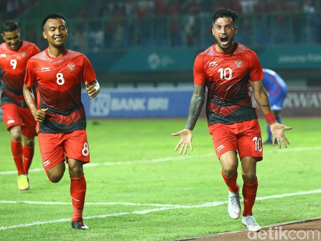 Stefano Lilipaly menjadi pemain tersubur kedua timnas U-23 di Asian Games 2018 sejauh ini. Kedua gol Lilipaly dicetak dalam kemenangan atas Taiwan. (Foto: Grandyos Zafna/detikSport)