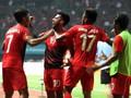 FOTO: Pesta Gol Buka Laga Timnas Indonesia di Asian Games