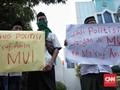 Demo 8 Orang, Koalisi Santri Tuntut MUI 'Buang' Ma'ruf Amin