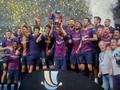 Barcelona Luncurkan Kostum Merah Muda