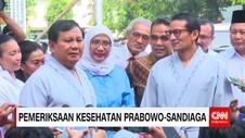 Prabowo-Sandi Jalani Pemeriksaan Kesehatan