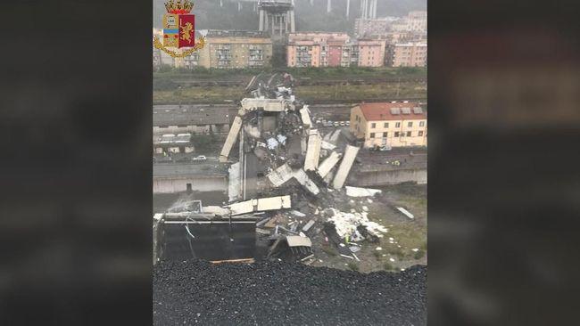 Jembatan Tol Genoa Runtuh, Dua Korban Selamat