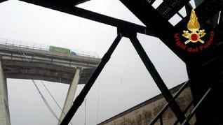 Jembatan Jalan Tol Roboh di Genoa, Italia