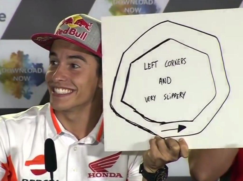 Rider dengan gaji terbesar di ajang MotoGP saat ini adalah Marc Marquez. Oleh Repsol Honda dia dibayar Rp 170,3 miliar (Youtube MotoGP.com)