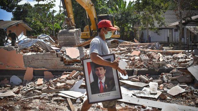 Jokowi Ingin Rumah Korban Gempa Berdiri Sebelum Musim Hujan