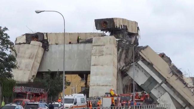 Kesaksian Warga Italia Atas Ambruknya Jembatan Tol Genoa
