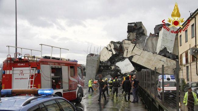 Jembatan Tol Genoa Runtuh, Tak Ada Laporan WNI Jadi Korban