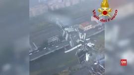 VIDEO: Jembatan Genoa Ambruk, Puluhan Orang Tewas