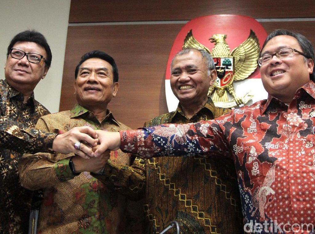 Potret Gandeng Tangan Pemerintah-KPK Melawan Korupsi
