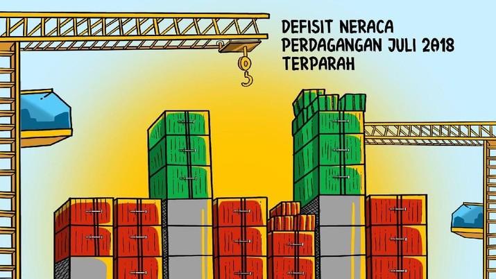 Defisit neraca perdagangan Indonesia telah menjadi yang terburuk kedua di Asia Tenggara