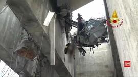 VIDEO: Penyelamatan Dramatis Korban Jembatan Tol Runtuh Genoa