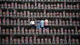Kuil Budha Jizoji di Ogano, Perfektur Saitama, Tokyo, Jepang menjadi rumah bagi sekitar 15 ribu kubur batu itu. (AFP PHOTO / Behrouz MEHRI)