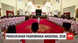 Presiden Jokowi Kukuhkan 68 Anggota Paskibraka
