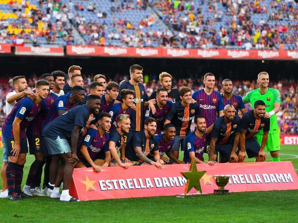 Hajar Boca Juniors, Barcelona Angkat Trofi Joan Gamper