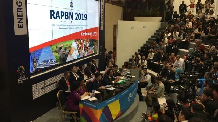 Rupiah dipatok Rp 14.400/US$ dalam RAPBN 2019.