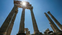 FOTO: Puing Kenangan Peradaban Romawi dari Pergamon